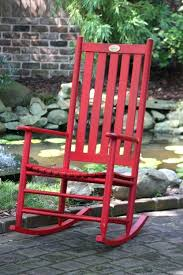 red outdoor rocking chair fire engine red rocking chair red