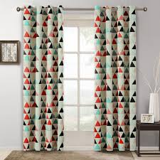 Pattern Drapes Curtains Children Curtains For Bedroom American Style Geometric Pattern