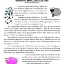 winter reading comprehension worksheets worksheets