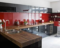 kitchen red and black kitchen designs red white and black