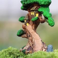 Home Decor Artificial Trees Aliexpress Com Buy Old Tree House Mini Garden Ornament Miniature