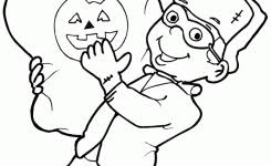 cute pumpkin frankenstein costume coloring coloring