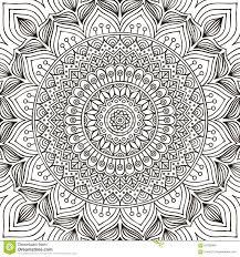 mandala coloring page stock vector image 62432868