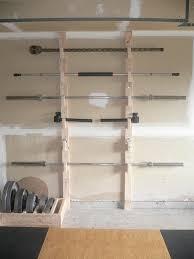Garage Gym Design Homemade Barbell Rack Fitness Pinterest Gym Crossfit And