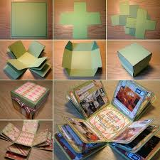 how to diy creative box photo album exploding boxes unique and box