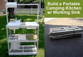 Build A Portable DIY Camping Kitchen With Working Sink DIY For Life - Camping kitchen with sink