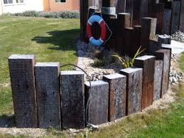 Railway Sleepers Garden Ideas Upright Sleepers In Garden Search Gardenin In The Sun