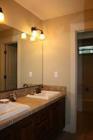 Awesome Four Light Bathroom Vanity Fixture Above Large Frameless Four Fixture Bathroom