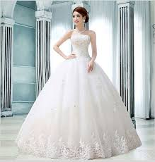 wedding dress version 2016 new korean version thin and sweet diamond ornaments