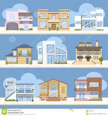 houses with beautiful colors and designs stock image image 33950871