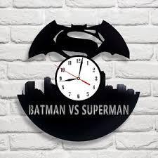 9 design home decor batman superman 9 design vinyl record clock art game move home
