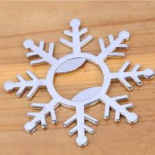 wedding favors bottle opener dunfa 80pcs winter wedding favors silver snowflake wine bottle