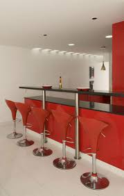 home bar design ideas apartments stunning red home bar design with glossy black granite