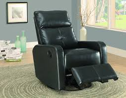 Swivel Recliner Chairs For Living Room Amazon Com Monarch Bonded Leather Swivel Glider Recliner