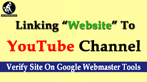 linking website to youtube channel verify site on google