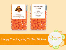 thanksgiving labels happy thanksgiving tic tac labels orange kiwi design studio