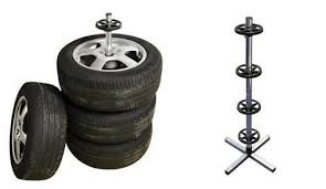 car wheel tyre stand tree holder storage rack for 4 wheels