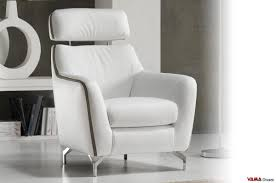 Leather Arm Chairs Contemporary Leather Armchair With Raised Headrest