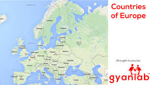 Europe Physical Features Map by Countries Of Europe Geography Gyanlab Youtube