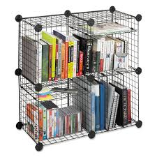Safco Mesh Desk Organizer by Wire Cube Shelving System By Safco Saf5279bl Ontimesupplies Com