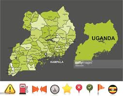 Navigation Map Uganda Navigation Map Vector Art Getty Images