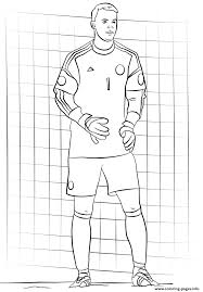 manuel neuer soccer coloring pages printable