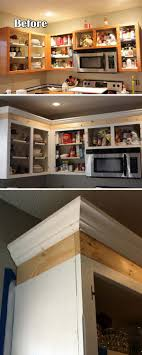 kitchen cabinets top trim 20 stylish and budget friendly ways to decorate above
