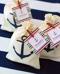 nautical gift bags a nautical themed wedding wouldn t be complete without a sweet