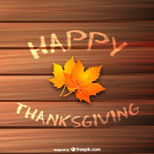 happy thanksgiving background with leaves vector free