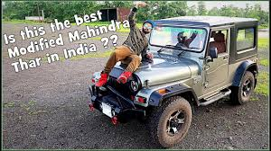 mahindra jeep 2017 new mahindra thar 2017 modified with hardtop and sunroof
