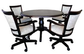 kitchen table with caster chairs dinette set with caster chairs rolling chairs for kitchen stunning