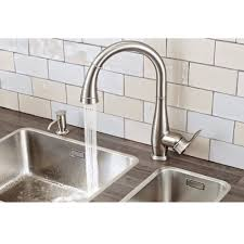 grohe parkfield lever kitchen sink mixer tap with pull out spray