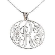 monogram necklace cheap monogram necklace sterling silver personalized name necklace