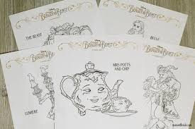 elegant beauty and the beast coloring pages to print