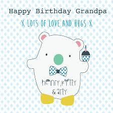 happy birthday grandpa personalised greeting card by buttongirl