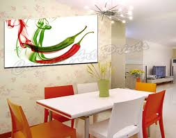 painting for kitchen dropship modern wall art canvas painting single panel peppers canvas