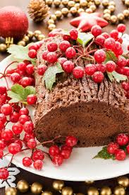chocolate buche de noel yule log cake kitchme