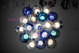 Colored Glass Pendant Lights Discount Color Glass Ball Pendant Lights Chandelier Of Colorful