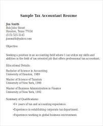 Sample Resume For Tax Accountant by 21 Accountant Resume Templates Download Free U0026 Premium Templates