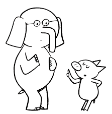 coloring pages elephant and piggie happy pig day