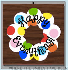 coton colors happy everything year happy everything wreath coton colors knock