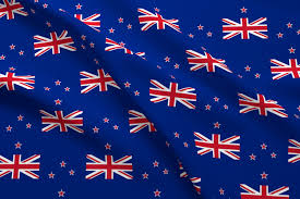 Nee Zealand Flag New Zealand Flag Fabric Flagfabric Spoonflower
