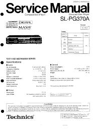 technics sl pg370a service manual download schematics eeprom