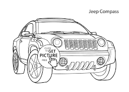 car jeep compass coloring page cool car printable free