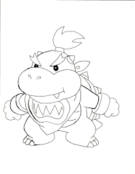 bowser jr coloring pages awesome mario coloring pages print
