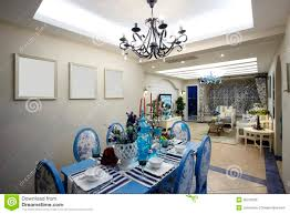 the mediterranean style dining room royalty free stock image