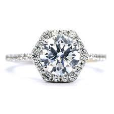 unique engagement ring settings unique hexagon shaped halo engagement ring setting for 2