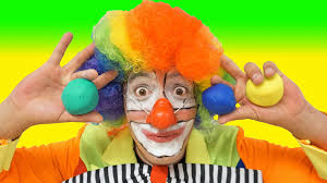 funny clown for children videos for kids juggling with play