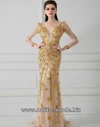 designer langarm schöne abendkleid chagne kleider 170290 94 55 - Abendkleid Designer