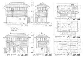 Model House Plans Atchison Topeka U0026 Santa Fe Railroad Interlocking Control Tower 19